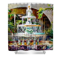 Fountain Of Water Shower Curtain