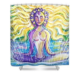 Shower Curtain featuring the painting Fountain Of Youth by Anya Heller