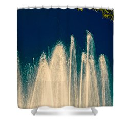 Fountain Stream By Night Shower Curtain