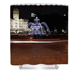 Fountaine De Tourny And Quebec Parliament Shower Curtain