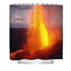 Fountaining Kilauea Shower Curtain by Allan Seiden - Printscapes