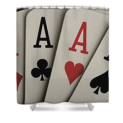 Four Aces Studio Shower Curtain by Darren Greenwood