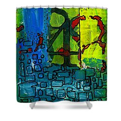 Four Shower Curtain by Angela L Walker