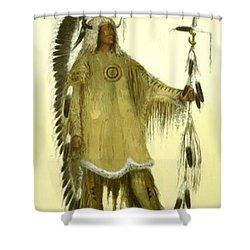 Four Bears Mandan Chief 1833 Shower Curtain
