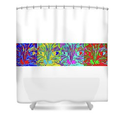 Four Cats Shower Curtain