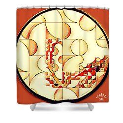 Four Circle Turn Shower Curtain