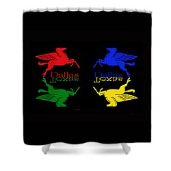 Four Color Dallas Pegasus Shower Curtain