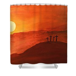 Four Crosses Shower Curtain