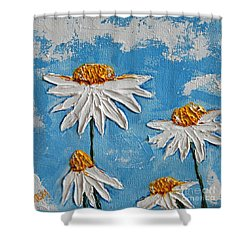 Four Daisies Shower Curtain