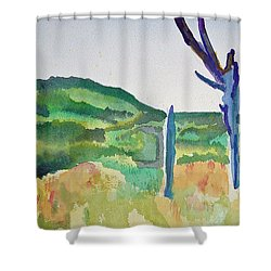 Four Dead Trees After Edward Hopper Shower Curtain