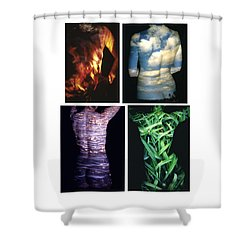 Four Elements Shower Curtain by Arla Patch