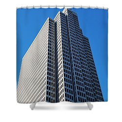 Four Embarcadero Center Office Building - San Francisco - Vertical View Shower Curtain by Matt Harang