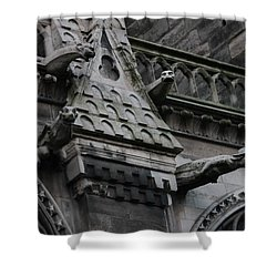 Four Gargoyles On Notre Dame North Shower Curtain by Christopher Kirby