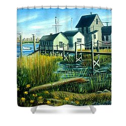 High Tide In Broad Channel, N.y. Shower Curtain