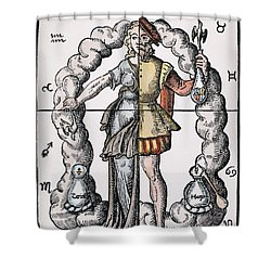 Four Humors Shower Curtain by Granger