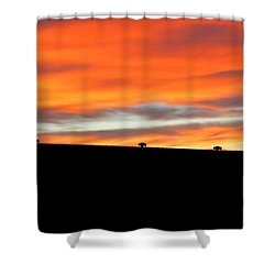 Four Kings Of The American Plains Shower Curtain by Keith Stokes