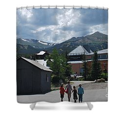 Four Little Children Safe In A Big Beautiful World Telluride Colorado Shower Curtain