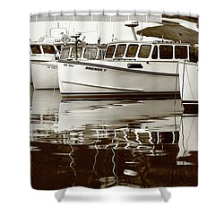 Four Lobster Boats Shower Curtain