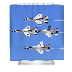 Four Mation Shower Curtain by Shoal Hollingsworth