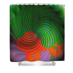 Four Pumpkins  Shower Curtain