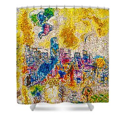 Four Seasons Chagall Shower Curtain