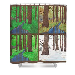 Four Seasons Shower Curtain