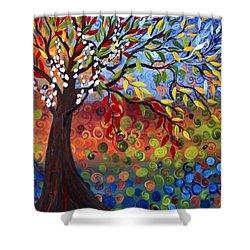 Four Seasons Shower Curtain by Luiza Vizoli