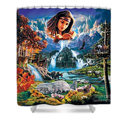 Four Seasons Shower Curtain by Robin Koni