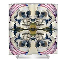 Four Skulls Shower Curtain