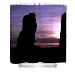 Four Stones Folly Clent Hills Shower Curtain by Baggieoldboy