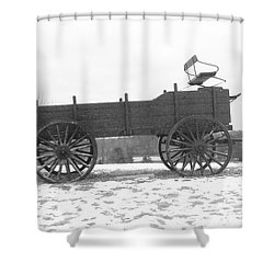Shower Curtain featuring the digital art Four Wheel Drive by Barbara S Nickerson