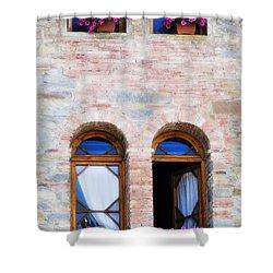 Four Windows Shower Curtain by Marilyn Hunt