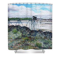 Fouras Village La Rochelle France 2016 Shower Curtain by Enver Larney