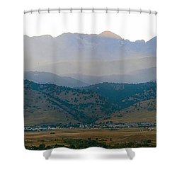 Fourmile Canyon Wildfire Front Range Wind View 09-09-10 Panorama Shower Curtain by James BO  Insogna