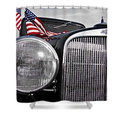 Fourth Of July-chevvy  Shower Curtain by Douglas Barnard
