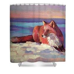 Fox II Shower Curtain