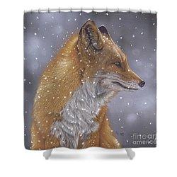 Fox In A Flurry Shower Curtain