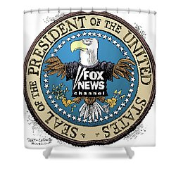 Fox News Presidential Seal Shower Curtain