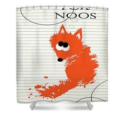 Fox Noos Shower Curtain