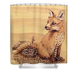 Fox Pup Shower Curtain