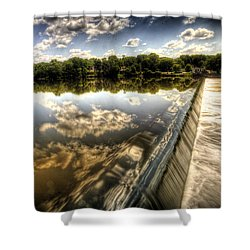 Fox River At The Geneva Dam Shower Curtain