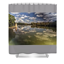 Fox River Lighthouse Geneva Illinois Shower Curtain