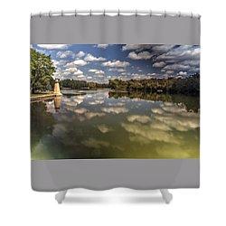 Fox River Lighthouse Geneva Illinois Shower Curtain