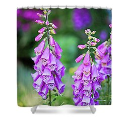 Foxglove Blooms Shower Curtain