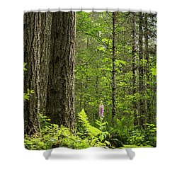 Shower Curtain featuring the photograph Foxglove In The Woods by Jean Noren