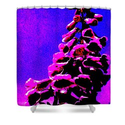 Shower Curtain featuring the painting Foxglove by Renate Nadi Wesley