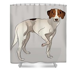 Shower Curtain featuring the digital art Foxhound by MM Anderson
