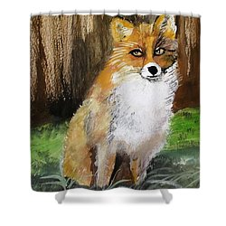 Foxy Lady Shower Curtain by Carole Robins