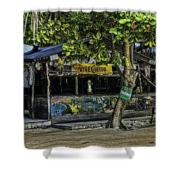 Foxy's On Jost Van Dyke Shower Curtain by Gordon Engebretson