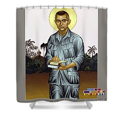Fr. Vincent Capodanno, The Grunt Padre - Lwvcd     Shower Curtain